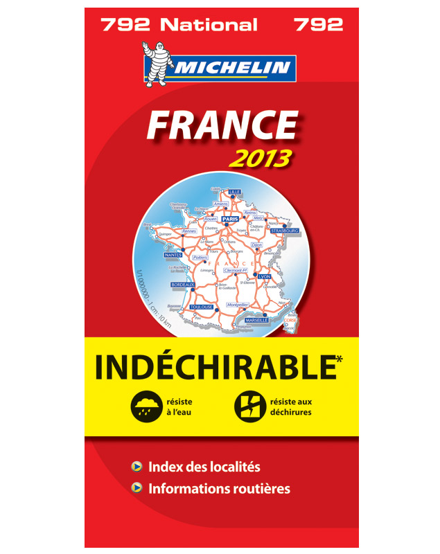 Michelin 792 France Indechirable 9782067181762