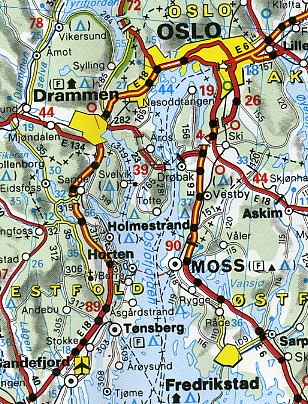 Norway - Michelin norway map 752