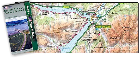 ordnance survey travel map road